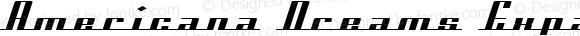 Americana Dreams Expanded Regular Macromedia Fontographer 4.1 3/9/99