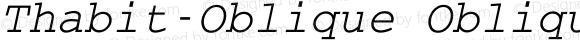 Thabit-Oblique Oblique