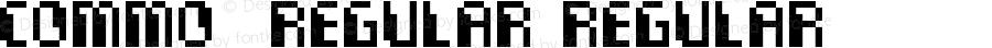 Commo  Regular Regular Fontographer 4.7 11.08.2008 FG4M0000001115