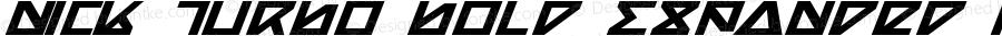 Nick Turbo Bold Expanded Italic