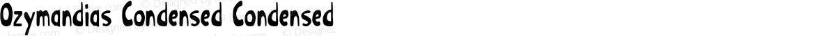 Ozymandias Condensed Condensed