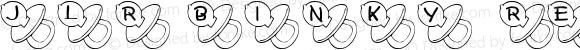 JLR Binky Regular Macromedia Fontographer 4.1 6/19/00