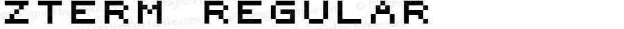 zTerm Regular Macromedia Fontographer 4.1.3 05/17/2001