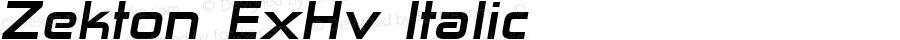Zekton ExHv Italic Version 3.000