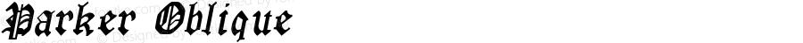 Parker Oblique 1.0 Tue Sep 20 13:57:33 1994