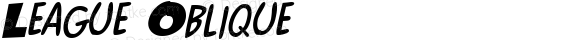 League Oblique 1.0 Mon Oct 10 19:39:22 1994