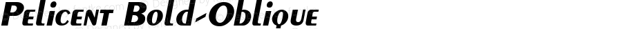 Pelicent Bold-Oblique 1.0 Sat Sep 10 12:47:29 1994