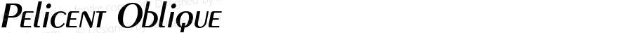 Pelicent Oblique 1.0 Sat Sep 10 12:46:06 1994