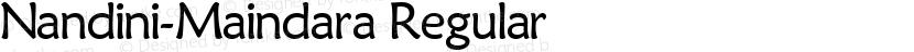 Nandini-Maindara Regular Preview Image