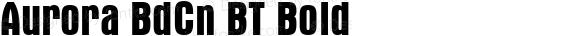 Aurora BdCn BT Bold Version 1.01 emb4-OT