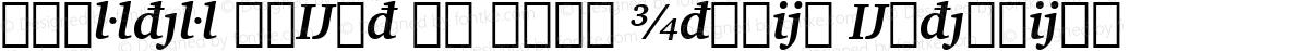 Charter BdExt BT Bold Italic Extension