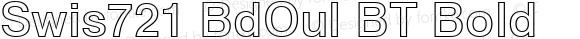 Swis721 BdOul BT Bold Version 1.01 emb4-OT