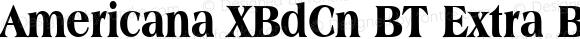 Americana XBdCn BT Extra Bold Version 1.01 emb4-OT