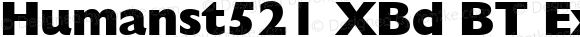Humanst521 XBd BT Extra Bold