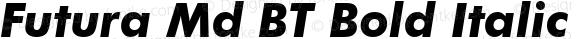Futura Md BT Bold Italic Version 1.01 emb4-OT
