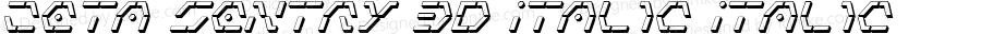 Zeta Sentry 3D Italic Italic 001.000