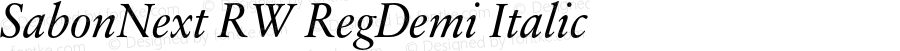 SabonNext RW RegDemi Italic Version 1.000;PS 001.000;hotconv 1.0.38