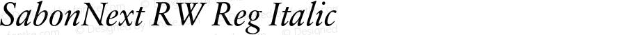 SabonNext RW Reg Italic Version 1.000;PS 001.000;hotconv 1.0.38
