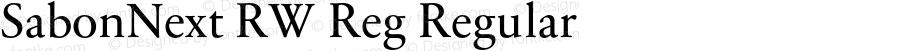SabonNext RW Reg Regular Version 1.000;PS 001.000;hotconv 1.0.38