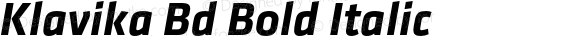 Klavika Bd Bold Italic