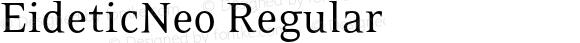 EideticNeo Regular OTF 1.0;PS 001.000;Core 116;AOCW 1.0 161