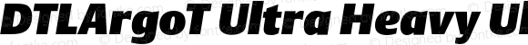 DTLArgoT Ultra Heavy UltraBlack Italic
