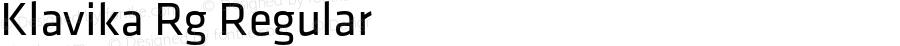 Klavika Rg Regular Version 1.000;PS 001.000;hotconv 1.0.38