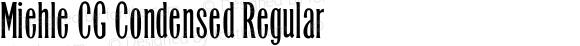 Miehle CG Condensed Regular Version 1.100;PS 001.001;Core 1.0.38