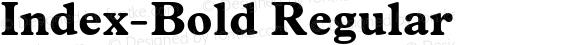 Index-Bold Regular preview image