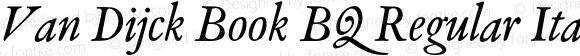 Van Dijck Book BQ Regular Italic