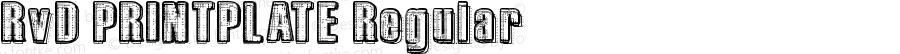 RvD_PRINTPLATE Regular Version 1.00 March 24, 2009, initial release