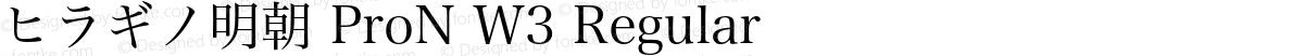 ヒラギノ明朝 ProN W3 Regular