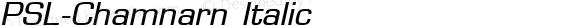 PSL-Chamnarn Italic Altsys Fontographer 3.5  25/11/95