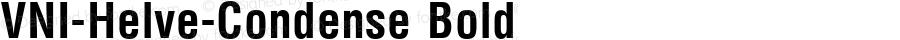 VNI-Helve-Condense Bold 1.0 Tue Jan 18 17:41:06 1994