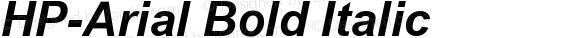 HP-Arial Bold Italic
