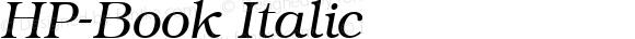 HP-Book Italic