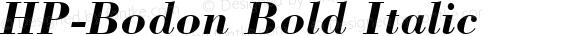 HP-Bodon Bold Italic