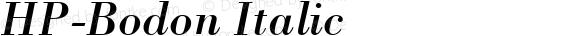 HP-Bodon Italic