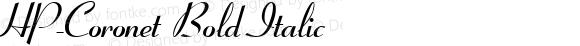 HP-Coronet Bold Italic