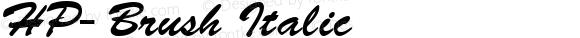 HP-Brush Italic