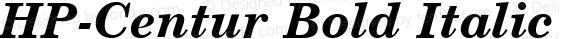 HP-Centur Bold Italic