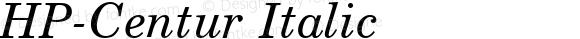 HP-Centur Italic