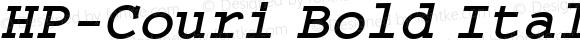 HP-Couri Bold Italic