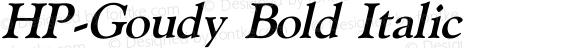 HP-Goudy Bold Italic