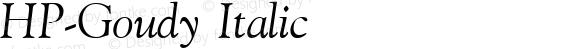 HP-Goudy Italic