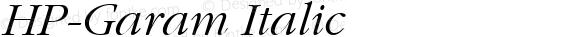 HP-Garam Italic