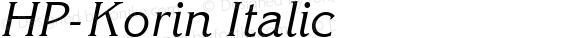 HP-Korin Italic