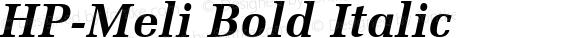 HP-Meli Bold Italic