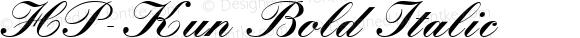HP-Kun Bold Italic