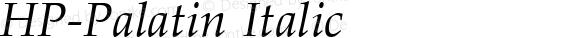 HP-Palatin Italic